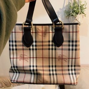 Authentic Vintage Burberry Tote Bag